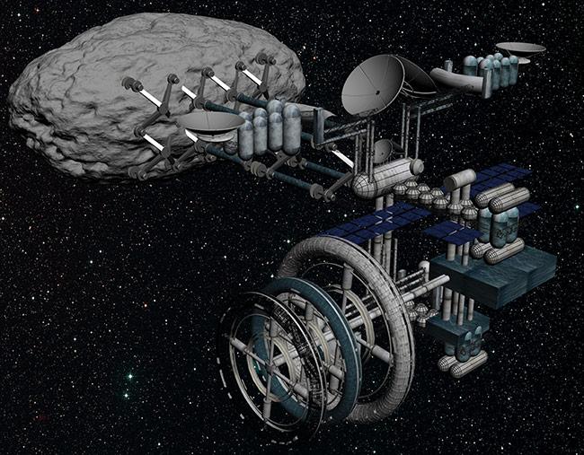 asteroid mining machinery - 650×507